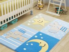 CONFETTI коврик в детскую100x160см. SLEEPY BLUE