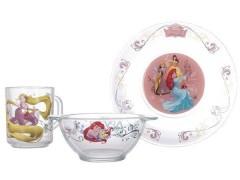 Детсая посуда DISNEY Принцессы - НАБОР/ 3 пр. в коробке