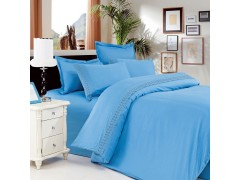 Голубое - Постельное белье евро размера