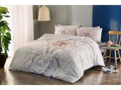TAC Ранфорс постельное белье евро размера YASMIN V02 PEMBE