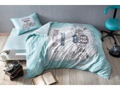 TAC TEEN Ранфорс постельное белье 1,5 размера ROUTE V04СИНИЙ