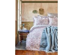 KARACA HOME Набор: постельное белье евро + ПЛЕД 200x220 смLUMINDA PEMBE