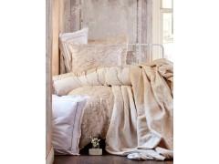 KARACA HOME Набор: постельное белье евро + ПИКЕ 240x250 +ПЛЕД 200x230 см TIMELESS BEST TOPRAK