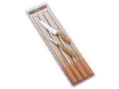 Кух.прибор TRAMONTINA Barbecue 6пр(шампур-4шт, нож 203мм,вилка) инд.блист (26499/032)
