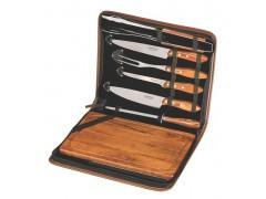 Кух.прибор TRAMONTINA Barbecue 8пр папка(нож-3шт,вил,щип,мусат,дост)цв.уп (21198/465)