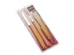 Кух.прибор TRAMONTINA Barbecue 3пр(нож зубч 203мм, вил46см,щипц37см)инд.бл (26499/045)