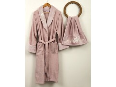 BEGONVILLE Набор: халат + полотенце 50x100 см.BOUQET PINK