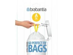 Мешки для мусора, белые, упаковка-диспенсер